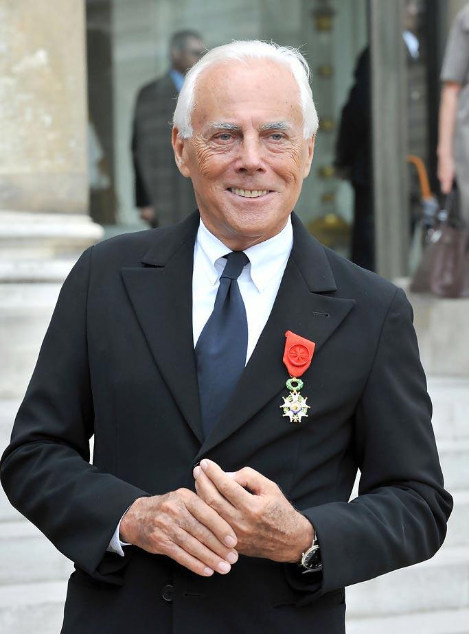 Джоржио Армани с Орденом Почётного легиона