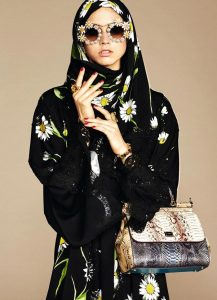 Коллекцию хиджабов и абай от Dolce & Gabbana