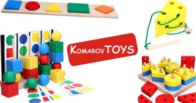 Логотип KomarovToys