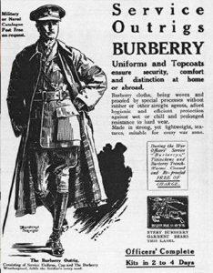 Реклама продукции Burberry