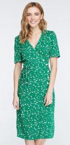Зеленое платье миди в цветочный принт MustHave
