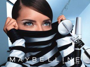 Адриана Лима в рекламной кампании Maybelllne