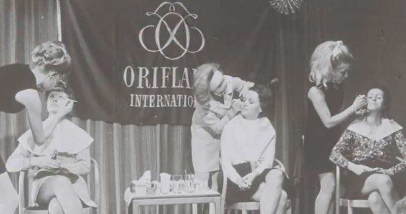 Демонстрация косметики Oriflame