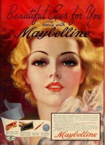 Ретро реклама Maybelline