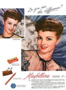 Старая реклама Maybelline