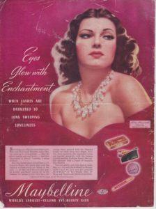 Винтажная реклама Maybelline