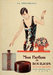 Винтажная реклама духов Mon Parfum