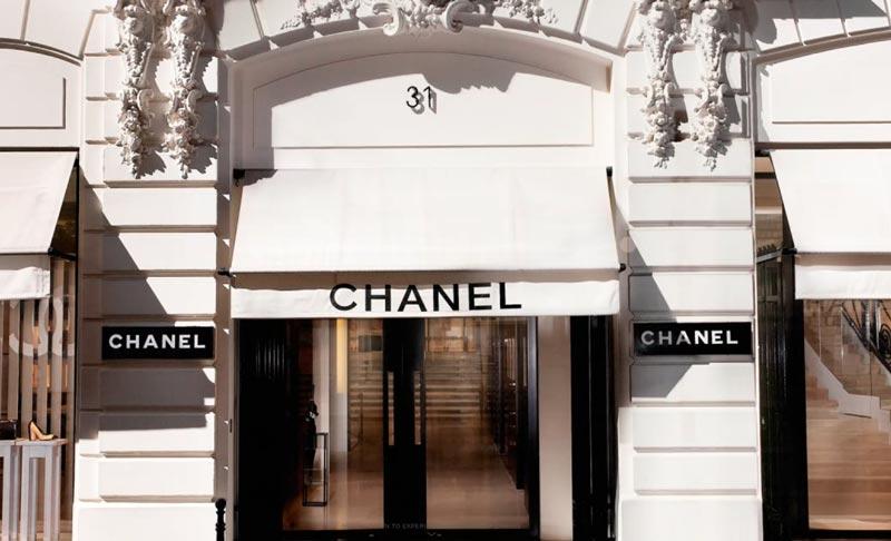 Магазин Chanel в доме № 31 на улице Камбон