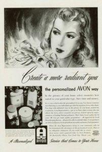 Винтажная реклама Avon