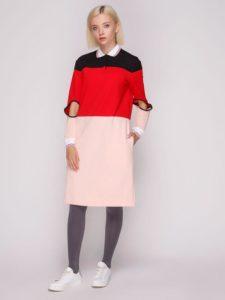 Трехцветное платье Dolcedonna
