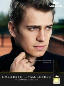 Хейден Кристенсен в рекламе аромата Challenge
