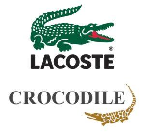 Сравнение логотипов Lacoste и Crocodile Garments