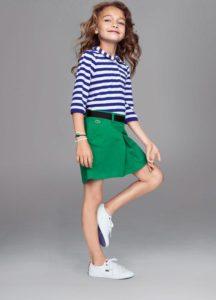 Зеленое платье Lacoste