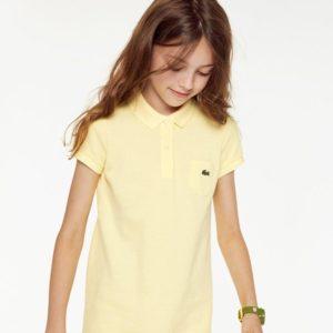 Желтая рубашка поло Lacoste