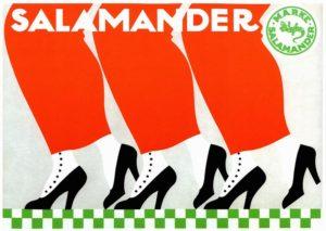 Винтажная реклама обуви Salamander
