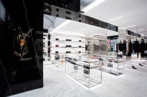 Интерьер магазина Yves Saint Laurent