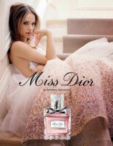 Натали Порман в рекламе духов Miss Dior