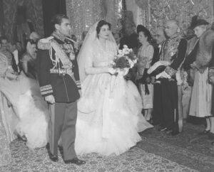 Принцесса Сорайя в свадебном платье от Dior