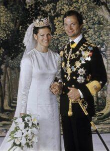 Свадебное платье Dior для ее Величества королевы Швеции Сильвии