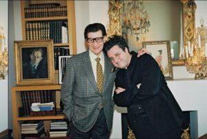 Ив Сен-Лоран с Альбертом Эльбазом
