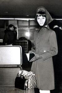 Одри Хепбёрн с сумкой Gucci