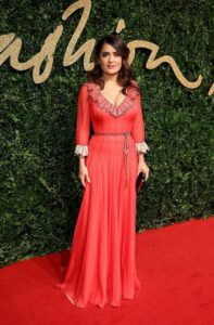 Сальма Хайек в платье от Gucci