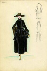 Эскиз Lanvin 1915 год