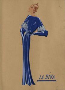 Эскиз наряда Lanvin 1920-х