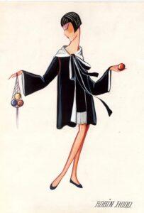 Эскиз детского платья Lanvin
