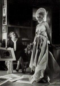 Жанна Ланвен в творческом процессе
