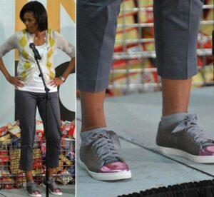 Мишель Обама в кедах Lanvin