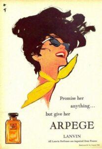 Ретро реклама духов Lanvin Arpege