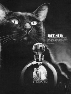 Ретро реклама духов Lanvin My Sin