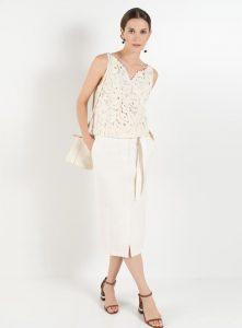 Светлая юбка и блуза Burvin