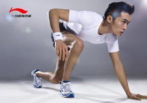Реклама мужской одежды и обуви Li-Ning