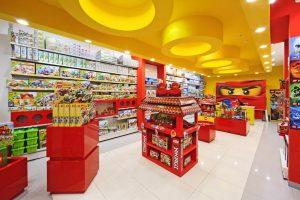 Интерьер фирменного магазина LEGO