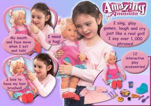 Кукла Playmates Toys Amazing Amanda