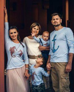 Семья в тельняшках LISA&LEO