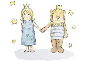 Сказочные персонажи — девочка Лиза, львенок Лео