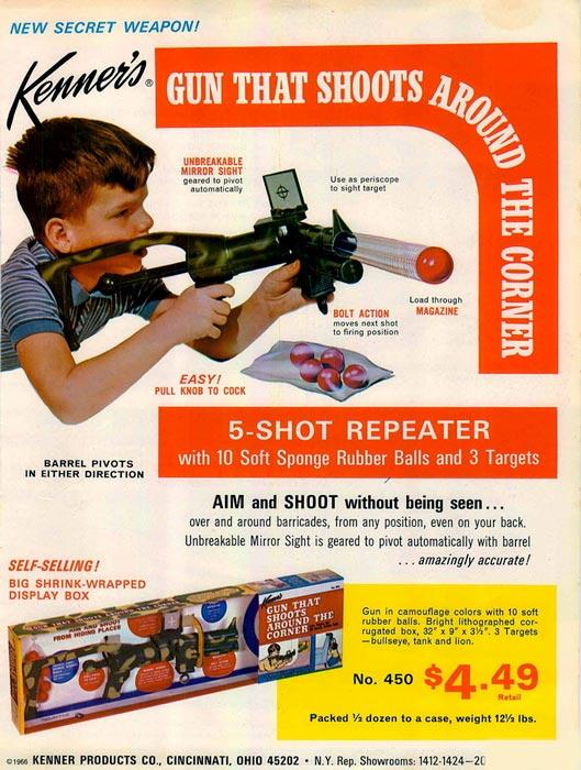 Kenner Gun that Shoots Around the Corner
