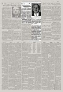 Газетная вырезка с информацией о Эдвине С. Лоу