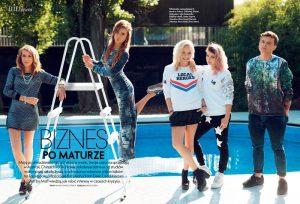 Арета Шпура и Каролина Слота в модном журнале Elle