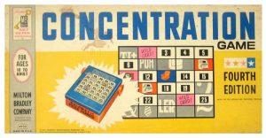 Milton Bradley Concentration