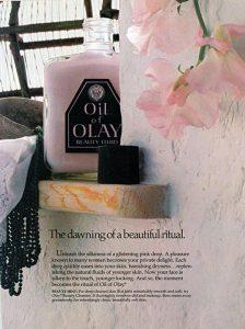 Реклама Oil of Olay в печатном издании