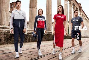 Реклама спортивной одежды Fila