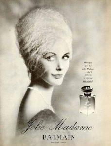 Винтажная реклама духов Balmain Jolie Madame
