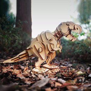 Деревянный 3D конструктор «Тиранозавр» Robotime