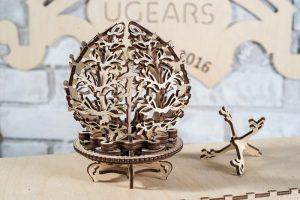 Механический 3D пазл «Цветок-шкатулка» UGEARS